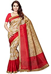 Ishin Womens Silk Saree With Blouse Piece (Swrya-28020_Beige)