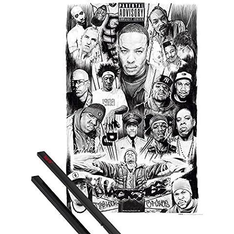 Poster + Sospensione : Rapper Poster Stampa (91x61 cm) Rap