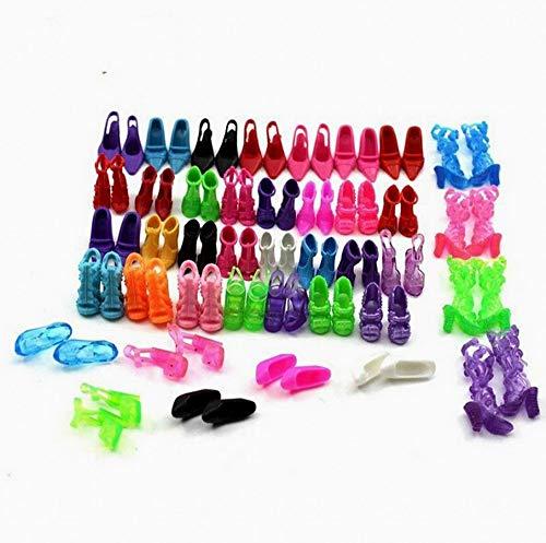 Beito 40 Paare Verschiedene High Heel-Schuhe Stiefel Zubehör für Barbie-Puppe - Schuhe Puppe