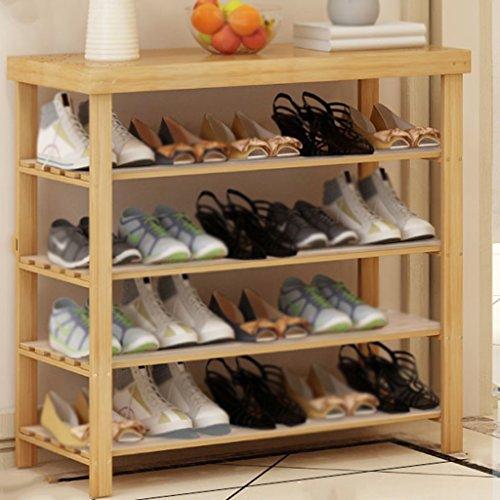 Porte-chaussures en bois massif maison simple petite chaussure rack poussière chaussure rack blanc chaussures rack de stockage ( Couleur : B , taille : 80cm )