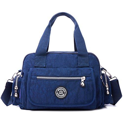 TianHengYi ,  Damen Tasche , Blau - Marineblau - Größe: Medium (Junior Handtaschen Black Tote)