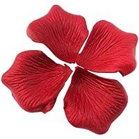 BestOfferBuy 1000Uds. Pétalos de Rosa en Seda Granate para Decoración Bodas Fiestas Confeti