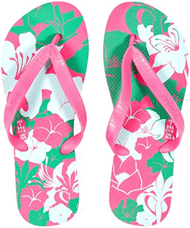 Dupe Floral Pink Pink Floral Woman Flip Flops, Ideal for Summer & Beach - UK Size 6/7 ab36ba