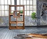 Wolf Möbel Regal Shan Sheesham Shina 120 cm 7 Fächer Massivholz Standregal