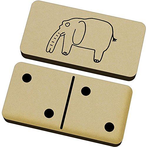 Azeeda 'Elefante' Domino Juego y Caja (DM00012790)