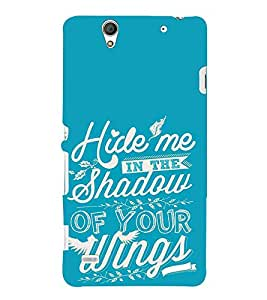 FUSON Hide Me Shadow Wings 3D Hard Polycarbonate Designer Back Case Cover for Sony Xperia C5 Ultra Dual :: Sony Xperia C5 E5533 E5563