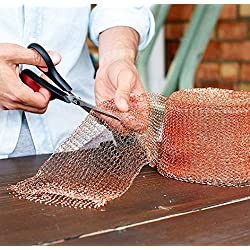 Cuivre Limace,Copper Mesh,for Mouse Rat Rodent Control, Snail Repel Control, Slugs Expeller, Snake Control,Bat Control,Insect Control,15 Metre,100% Copper