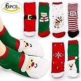 MMTX Weihnachten Socke Baumwolle Tier Weihnachtsmann 6 Paar Weihnachten Socken Geschenke 0-10 T