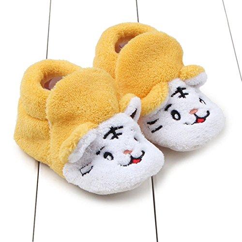 Babyschuhe Longra Baby Mädchen Jungen Kleinkind Tier-Design Krippe Schuhe Prewalker weiche Sohle Baumwolle Winterschuhe lauflernschuhe krabbelschuhe (0 ~ 8 Monate ) Yellow