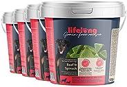 Amazon-Marke: Lifelong - Hundeleckerli, ohne Weizen mit Mono-Proteinquelle - Rind & Spinat (4 x 500gr Bec