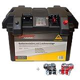 Panther BatterieStation mit Anzeige Batteriebox Batteriekasten Batteriebehälter inkl. Polklemmen