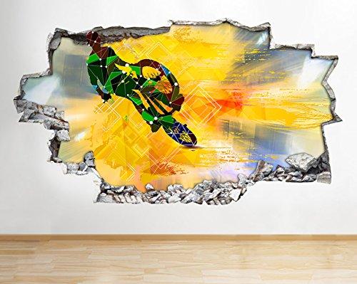Halogen Bremsleuchte bunt Fahrrad Cool Kids zerstörten Wand Aufkleber 3D Kunst Aufkleber Vinyl Raum