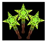 Alien Storehouse Set von 3 Light Sticks, Glow Stick Party Gefälligkeiten, Stars [Grün]
