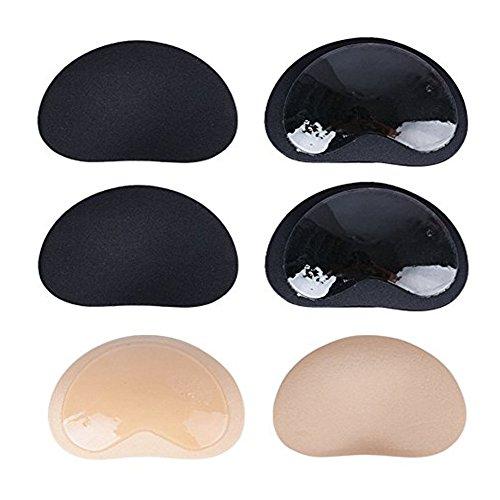 BIU 3 paar Schwamm Einlagen Pads Breast Enhancer Push Up Bra Einlagen Selbstklebend Silikon Brust Vergrößerung Pads für A B C D Cup BH Badeanzug und Bikini