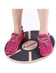 "Sportneer Wooden Balance Board, 15.7"" Exercise Balance & Stability Trainer …"