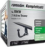 Rameder Komplettsatz, Anhängerkupplung Abnehmbar + 13pol Elektrik für BMW 2 Active Tourer (128194-12791-1)