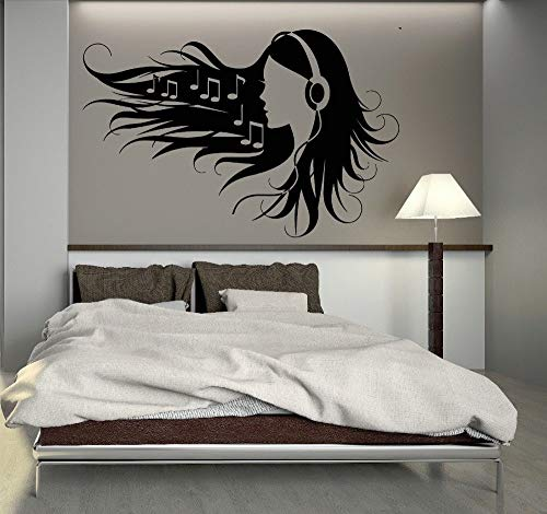 Wandtattoo Kinderzimmer Wandtattoo Schlafzimmer Teen Girl In Kopfhörer Musik Rock Pop Girl Für Schlafzimmer