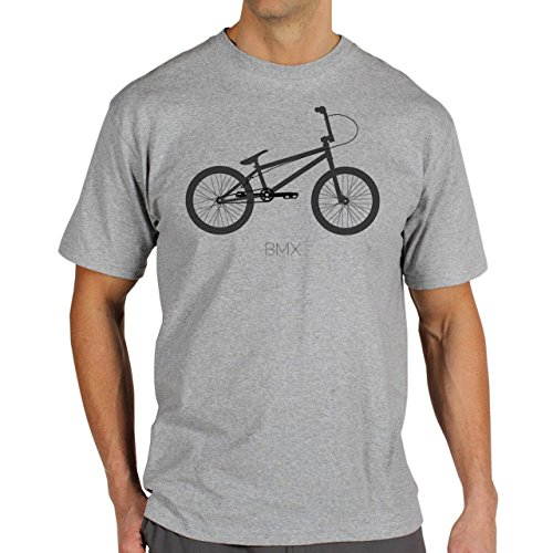 BMX Bicycle 4 BMX Background Herren T-Shirt Grau