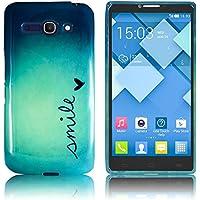 Alcatel One Touch Pop C9silicona SONRISA Caso Smartphone Bumper Flip bag Cover protección thematys®
