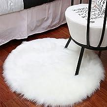 erencook sintética cojín de oveja super suave Fluffy Shaggy alfombra para silla cojines de lujo piel de oveja alfombra área Rugs