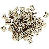 MagiDeal Lot de 100pcs Alphabet en Bois pour Enfants Projets Créatifs Utilisation en Classe