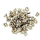Prettyia Mini Buchstaben Alphabet Holz Verzierungen für Handwerk