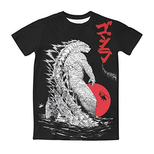 Kostüm Godzilla - Godzilla T-Shirt Sommer Schwarz Shirt Film Cosplay Kostüm Erwachsene Herren Top Kleidung