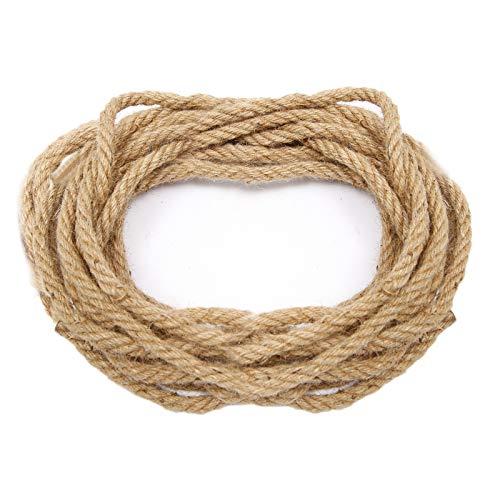 Anladia natürliche Hanfseile 10mm, Jute Seil Jute Kordel Bastelschnur Natürliche Hanfschnur mit 10M Länge für DIY Basteln Dekorieren
