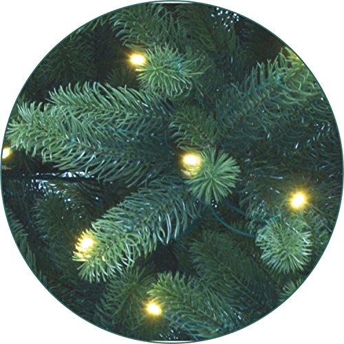 Lönartz® Naturgetreuer künstlicher Weihnachtsbaum PE-Spritzguss mit Beleuchtung (118 LEDs, 5,5W), Höhe: 120cm / Ø95cm (PE-BM120)