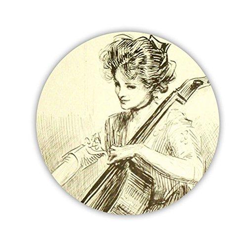 Generic Cup Mat Circle Print Cello 5 Women Mdf Protector (Protector Print)
