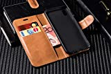 Case Collection Premium Leather Folio Cover for Motorola Moto G7 / G7 Plus Case (6.2) Magnetic Closure Full Protection Design Wallet Flip with [Card Slots] and [Kickstand] for Moto G7 Plus / G7 Case