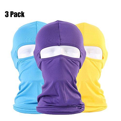 3pcs balaclava prueba viento máscara esquí máscara