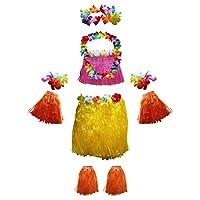 Set Gonna Hawaiana Costume Fiori Adulto Hawaiano da Kurtzy   Noi di Kurtzy, sappiamo quanto siano fantastiche e colorate le Hawai. Questo è il motivo per cui questo set di gonne è realizzato con materiali di alta qualità, garantendo che il c...