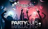 TRESKO Rote Partybecher 100 Stück | Beer Pong Party Cups | 473 ml (16 oz) | Bierpong Becher extra stark | Kunststoffbecher Plastikbecher Camping - 7