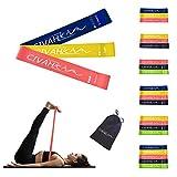 Elastici di resistenza lattice naturale fascia di resistenza allenamento per Hysical terapia yoga pilates Rehab sport fitness cintura set of 3