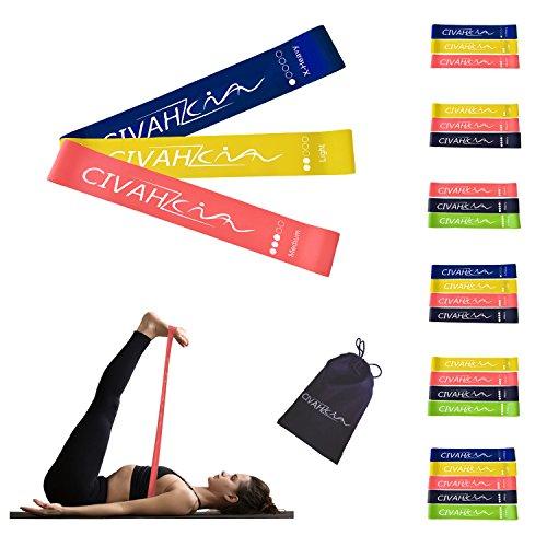 Bandas de resistencia látex natural banda de resistencia Entrenamiento para hysical terapia Yoga Pilates rehabilitación deporte Fitness cinturón set of 3