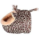 MAGIC UNION Hundehöhle Hundehöhle Tierbett Hundebett Hundesofa Korbmit Schlafplätze Kissen für Pet Hund Katze Haustier in Tiere Braun Giraffe und 3 Größen(S/M/L) wählbar - 5