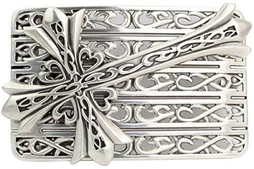 Brazil Lederwaren Gürtelschnalle Celtic Cross 4,0 cm | Buckle Wechselschließe Gürtelschließe 40mm Massiv | LARP- und Mittelalter-Outfit