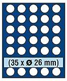 SAFE 6826 ECHTHOLZ MÜNZBOX NOVA exquisite 35 x 26 mm RUNDE FÄCHER - IDEAL FÜR 2 EURO & MÜNZEN BIS 26 mm - MÜNZBOXEN - MÜNZELEMENTE