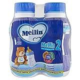 Mellin 2 Latte di Proseguimento per Bambini, Indicato dai 6 Mesi, Liquido - 4 Bottigline