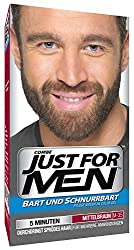 Just For Men M35 Moustache & Beard Facial Hair Color Medium Brown