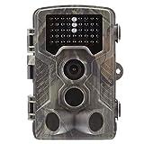 Godbless Wildkamera 1080P Full HD Profi Outdoor Überwachungskamera Jagdkamera 120°Weitwinkel Vision Infrarote 20m Nachtsicht Wasserdichte IP65 mit 2'' LCD Display