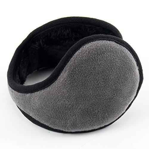 CWAIXX Muffs Plüsch Ohrenschützer Ohr Ohr Kit Winter Mann bedeckt Ohren gepolstert Damen Winter warm, Plüsch grau (Muff Kit)