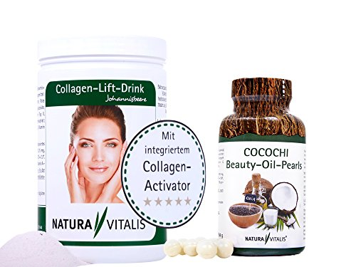 Natura Vitalis Collagen-Lift-Drink 800g + Cocochi 120 Kapseln