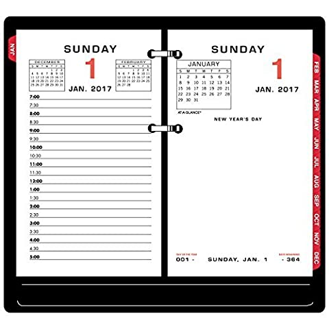 AT-A-GLANCE Daily Calendar 2017 Refill, 3-1/2 x 6, Desk Size (E017-50) by At-A-Glance