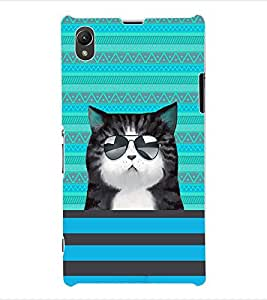 ColourCraft Cat Back Case Cover for SONY XPERIA Z1 - C6903 / C6906