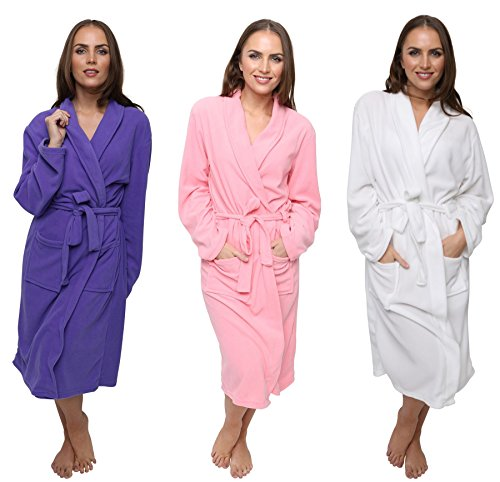 women's polar fleece robe dressing gown, super soft, 3 sizes, winter spa gift by daisy dreamer® - 514y9SKiO L - Women's Polar Fleece Robe Dressing Gown, Super Soft, 3 Sizes, Winter Spa Gift By Daisy Dreamer®
