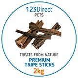 2Kg Premium Rinderpansen für Hunde | getrocknete Rinderpansen | Nicht in China hergestellt | Kommen direkt aus Europa | für Menschen unschädliche Rinderpansen | Keine Konservierungsstoffe, Geschmacksverstärker oder Chemikalien | Unter strengen ethischen Bedingungen in Europa verarbeitet im Gegensatz zu anderen Produkten | Ideal für die Zahnhygiene, Reduziert Zahnbelag und Mundgeruch | Ideal für Arbeitshunde und Welpen | Unwiderstehlichen Snack mit hohem Proteingehalt| Belohnendes Leckerli, das g