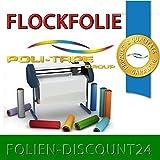 (EUR 25,80 / Quadratmeter) FLOCKFOLIE TbT 400 GREEN BÜGELFOLIE TOP ! Preistip Flex Flock 1 M x 50 cm POLITAPE