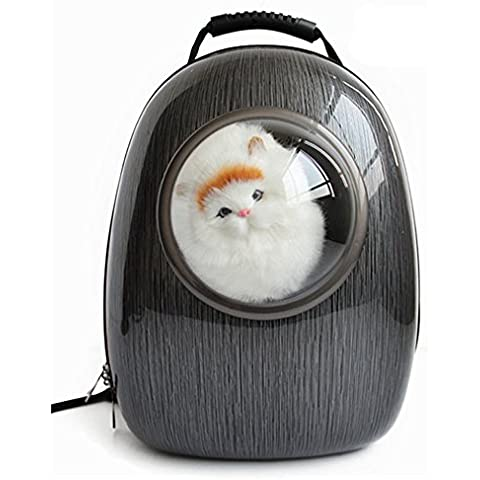 Spazio Capsual Pet cane gatto cucciolo Carrier portatile Outdoor viaggio escursionismo borsa anteriore Bubble Spalla Zaino per cani di piccola taglia e gatti